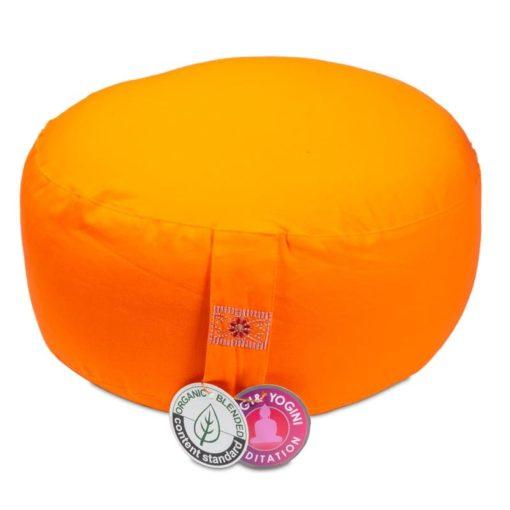Coussin de méditation Orange coton BIO