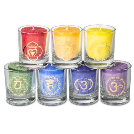 Bougies 7 chakras