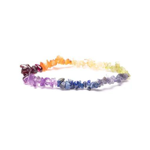 Bracelet élastique 7 éclats de chakra