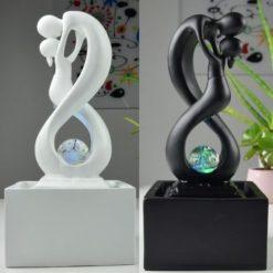 Fontaine moderne Amor - Noir - Blanc
